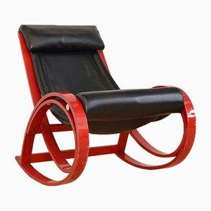 Rocking Chair Vintage Sgarsul par Gae Aulenti pour Poltronova