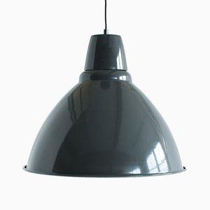 Lampa à Suspension Industrielle Vintage Grise Enamel