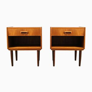 Danish Teak Night Stands, 1960s, Set of 2