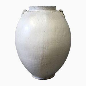 Große Grau Glasierte Keramik Bodenvase von Svend Hammershøj für Kähler, 1930er