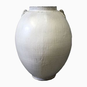 Large Grey Glazed Ceramic Floor Vase by Svend Hammershøj for Kähler, 1930s