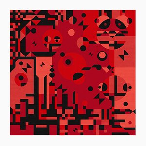 Red Rays Carpet by Kostas Neofitidis for KOTA Collections