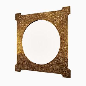 Italienischer Bronze Spiegel von Luciano Frigerio, 1970er