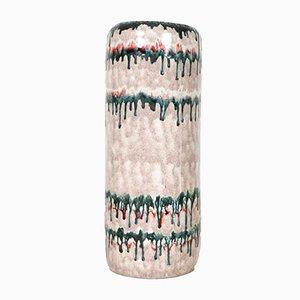 Vaso da terra Mid-Century rosa pallido