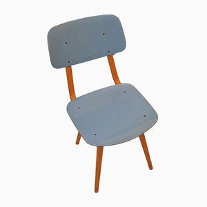 Chaise Bleue en Bois et Résine de Ton, 1960s
