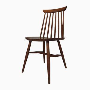 Stuhl mit Holzspeichen im Skandinavischen Stil, 1960er