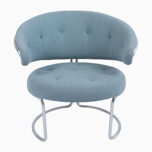 Vintage Baby Blue Armchair by Grete Jalk for Fritz Hansen, 1967