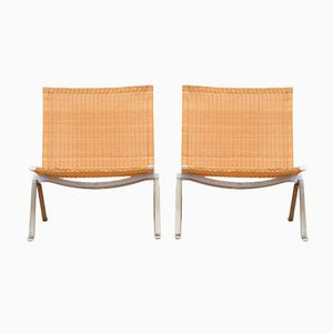 Mid-Century PK22 Chairs by Poul Kjaerholm for Fritz Hansen, Set of 2