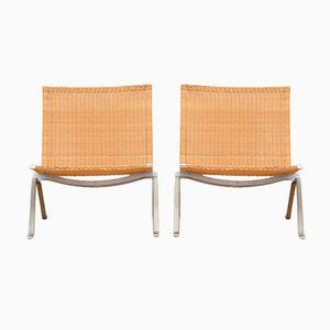 Mid-Century PK22 Stühle von Poul Kjaerholm für Fritz Hansen, 2er Set