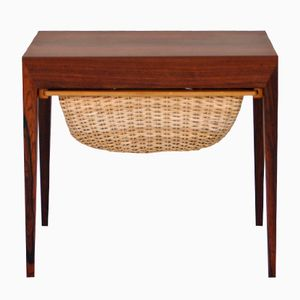Mid-Century Rosewood Sewing Box by Severin Hansen for Haslev