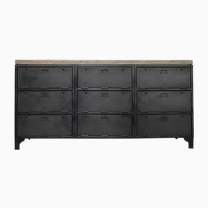 Mid-Century Industrial Dark Grey Buffet