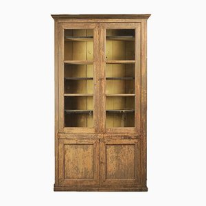 Antiker Lackierter Französischer Bücherschrank