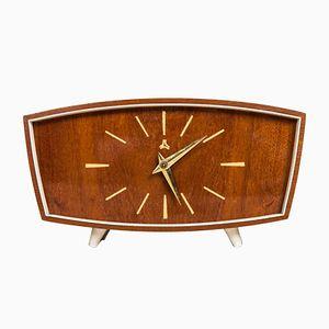 Horloge de Bureau Vintage en Acajou sur Petits Pieds