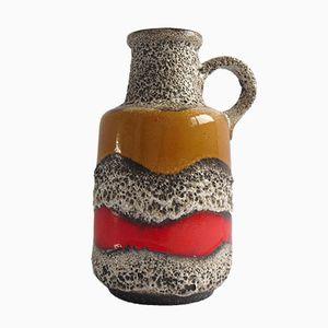 Vase de Parquet Forme Pichet Fat Lava Vintage Allemagne de l'Ouest de Scheurich, 1960s