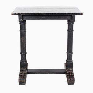 Table Console Antique Victorienne Noircie