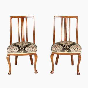 Antique Victorian Mahogany Chairs, Set of 2