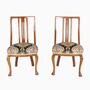 Chaises Antiques Victoriennes en Acajou, Set de 2