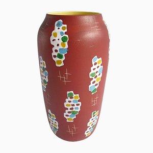 Vase de Parquet Mid-Century Moderne en Céramique par Bodo Mans pour Bay, 1950s