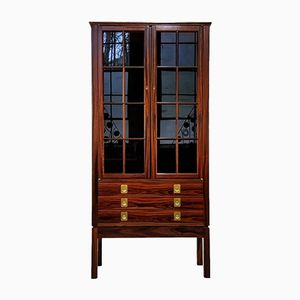 Mid-Century Norwegian Rosewood Lighted Curio Cabinet by Torbjørn Afdal, 1960s