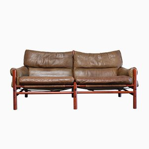 Vintage Kontiki 2-Seater Leather Sofa by Arne Norell