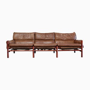 Vintage Kontiki 3-Seater Leather Sofa by Arne Norell