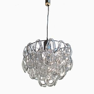 Giogali Crystal Chandelier by Angelo Mangiarotti for Vistosi, 1968