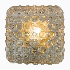 Große Glas Wandlampe mit Luftblasen Struktur, 1960er