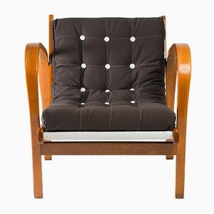 Vintage Functionalist Armchair by Kozelka & Kropacek