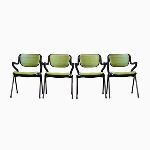 Vintage Chairs by Giancarlo Piretti & Emilio Ambasz for Castelli, Set of 4