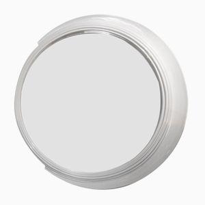 Großer Italienischer Spiegel mit Weiß Lackiertem Rahmen, 1970er