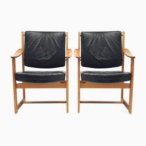 Armlehnstühle von Sven Kai Larsen für Nordiska Kompaniet, 1960er, 2er Set