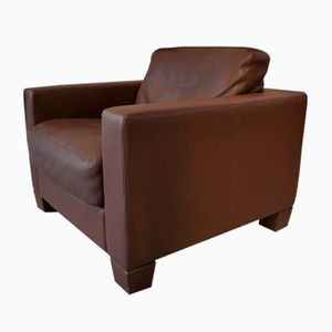 Vintage Swiss DS-17 Club Chair in Brown Leather from de Sede