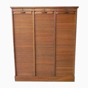 Vintage Oak Shutter Cupboard with Three Doors