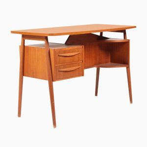 Mid-Century Danish Free-Standing Teak Desk, 1950s