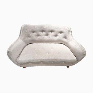 Swedish Mid-Century Button Tufted Sofa