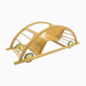 Vintage Rocking Chair and Car by Hans Brockhage, Erwin Andra, & Mart Stam for Siegfried Lenz