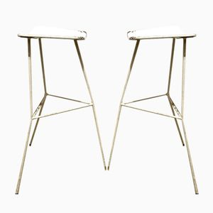 Mid-Century Minimal Stools by Ernest Race for Race Furniture, Set of 2