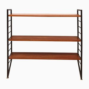 Mid-Century Small Teak Ladderax Shelving Unit from Staples, 1960s