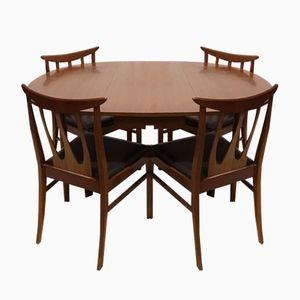 Ausziehbarer Tisch und Brasilia Stühle von G-Plan, 1960er