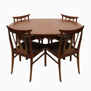 Drop-Leaf Table and Brasilia Chairs from G-Plan, 1960s