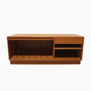 Vintage Low Teak Record Cabinet from G-Plan