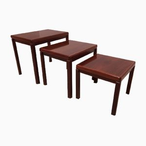 Danish Modernist Rosewood Nest of Tables from Vejle Stole-OG Mobelfabrik