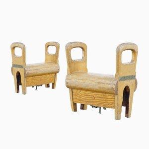 Böcke zum Turnen aus Holz von Sporta de Wael- Zele, 1960er, 2er Set
