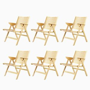 Slovenian Rex Plywood Foldable Chairs by Niko Kralj for Stol, 1950s, Set of 6