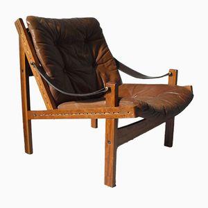 Norwegischer Hunter Safari Sessel von Torbjorn Afdal für Bruksbo, 1960er