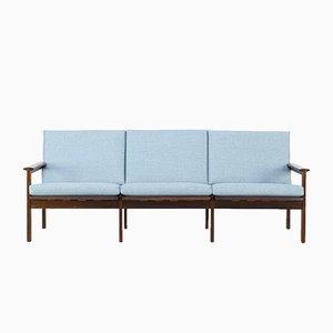 Palisander Drei-Sitzer Sofa von Illum Wikkelsø für Niels Eilersen, 1960er