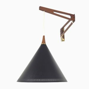 Dutch Swing Arm Wall Lamp by Willem Hagoort, 1950s