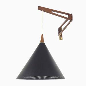 Niederländische Pendelarm Wandlampe von Willem Hagoort, 1950er