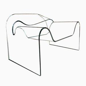 Chaise Ghost Vnitage par Cini Boeri & Tomu Katayanagi pour Fiam, Italie