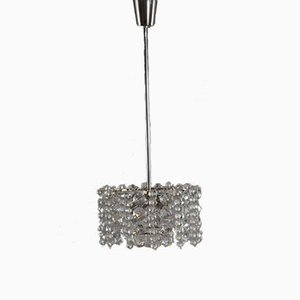 Austrian Crystal Glass and Nickel Chandelier Pendant Light from Bakalowits & Söhne, 1960s